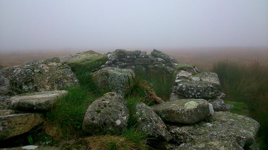 Rocks in mist